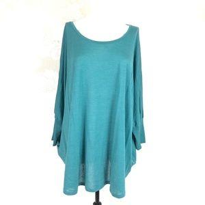 Eileen Fisher Dolman Sleeve Size XL Silk Blend Top